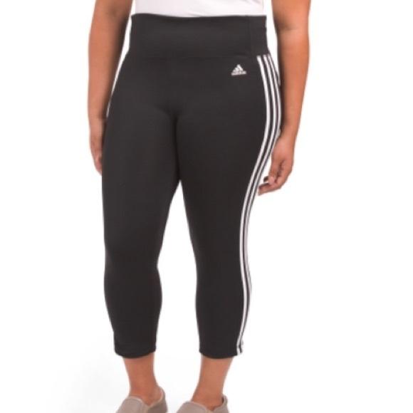 5e80c43e92cd0 adidas Pants   Last One 3 Stripe Activewear Capri Legging   Poshmark